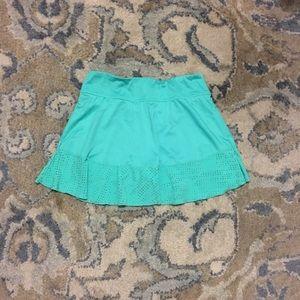 Pool green athletic skirt
